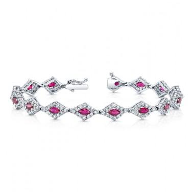Diamond Ruby Bracelet